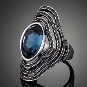 SZ 7 LEFT ⭐️ Vintage Antique Silver Bohemian Ring